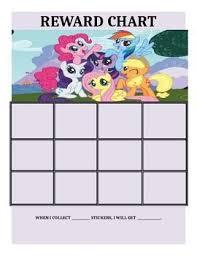My Little Pony Reward Charts Reward Chart Kids Printable