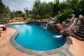 backyard pools with waterfalls and slide. Brilliant Waterfalls Fauxrockwaterfallsslide And Backyard Pools With Waterfalls Slide I