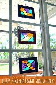 diy stained glass homemade stained glass frame diy faux stained glass window