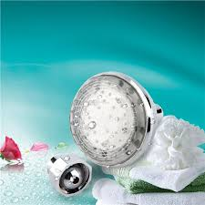 led light 7 color changing water glow shower head bathroom home
