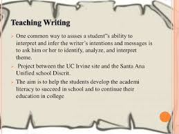 teaching secondary english learners to understand analyze and write  project uciwp and sausd result repair hope