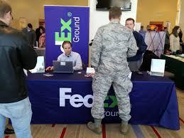 hire veterans military job fairs recruitmilitary fedex veteran job fair