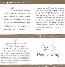 denny wong sand dollar pendant 14k white gold