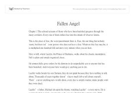 fallen angels essay conclusion fallen angels essay conclusion