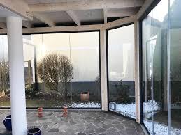 Terrassenverbau Holz Mit Schiebetüren Holz Fichte Mit Sunflex Sf 20