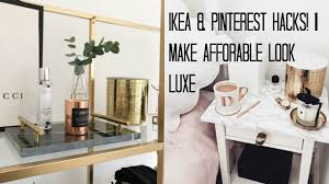 hack ikea furniture. IKEA HACKS \u0026 PINTEREST DIY\u0027S | MAKE AFFORDABLE LOOK LUXE Hack Ikea Furniture