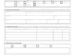 Printable Customer Information Form Emergency Contact Information Sheet Template Employee Free