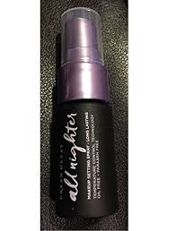 ud all nighter long lasting makeup setting spray 0 5 oz small refillable travel size bottle