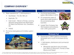 Company Overview Slides Sunoco August 2016 Investor Presentation Slide Show Sunoco Lp