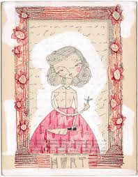 original painting hurt by cori dantini half 80 00
