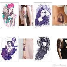 мода прохладный женщины тела временные татуировки наклейки передачи воды
