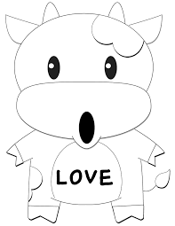 Small Picture Sleeping Cow Coloring Page H M Coloring Pages