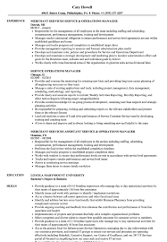 Resume Services Service Operations Manager Resume Samples Velvet Jobs 44