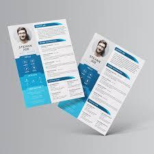 64 Resume Templates Photoshop 15 Free Elegant Modern Cv Resume