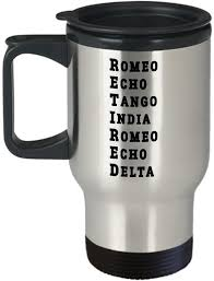 Spelling alphabets, such as the nato phonetic alphabet, consists of a set of words used to stand for alphabetical letters in oral communication. Amazon Com Funny Retired Military Travel Coffee Mug Us Army Usa Navy Marine Usaf Air Force Coast Guard Retirement Alphabet Mug Phonetic Armed Force Police Cup Kitchen Dining