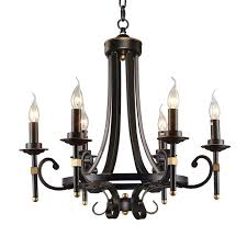 lnc traditional antique light black iron chandeliers candle