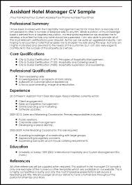 Sample Resumes For Hospitality Industry For Hotel Industry Cool