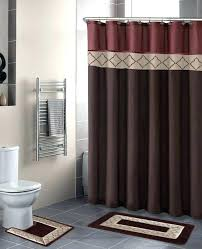 wood shower curtain rod no rust shower curtain rod industrial gray included wildlife cotton blend wood