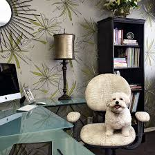 eclectic office furniture. Innovative Doggy Steps In Home Office Eclectic With Alligator Furniture Next To Light Green Wallpaper Alongside Floral And Modern E
