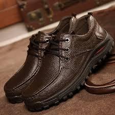 <b>Hot Sale Genuine Leather</b> Black Brown Men Flats Shoes,Hand ...