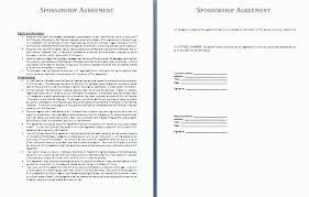 sponsorship agreement sponsorship agreement template free agreement templates