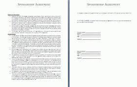 sponsorship agreement sponsorship agreement template free agreement templates