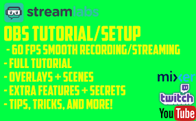 setup streamlab obs to stream and