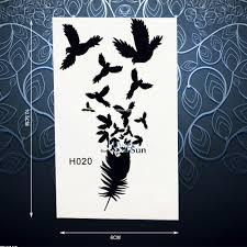 2589 руб 10 скидкамодное черное перо птицы временная татуировка стикеры