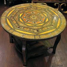 moroccan round coffee table painted coffee table image and description moroccan style coffee table uk