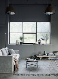 industrial style living room furniture. Astonishing Moody Shades Grey Velvet Sofa Round Minimalist Coffee Table For Industrial Living Room Furniture Style And Decor Inspiration Xcode The Best D