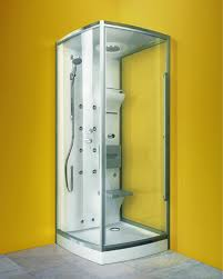 Compact Shower Cabin from Glass Idromassaggio is designed for maximum shower  space  new Integra