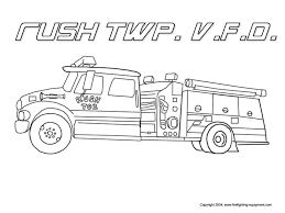 Firefighting Equipmentcom Kids Fire Safety Fire Truck Coloring Page