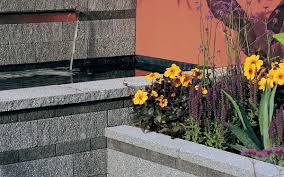 rio granite effect textured garden wall