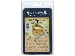 realeather by silver creek tool stamp set 3 8 in alphabet fancy