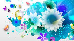 HD Blue Flower Abstraction Wallpaper ...