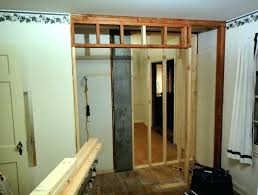 How to frame a closet Rough Photo Teachablemomentsus How To Frame Garage Door Framing For Garage Door Tracks Frame