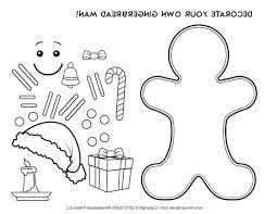 Blank Gingerbread Man Coloring Page Template For Kids