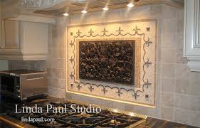 Mural Tiles For Kitchen Decor Plain Decoration Kitchen Backsplash Murals Tile Linda Paul Studio 88