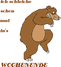 Asciibilder Animschönes Wochenende Gif Wochenende Lustig
