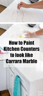 Small Picture Painting Kitchen Countertops To Look Like Carrara Marble In My