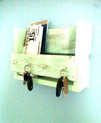 wall mail organizer and key holder creative ideas mounted rack wood plans orga