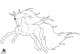 Disegno Di Unicorno Che Corre Da Colorare Disegni Da Colorare E