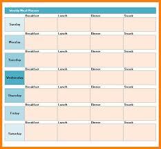 10 Excel Weekly Meal Planner Gospel Connoisseur