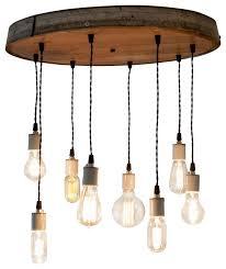 radiance resplendent wine barrel head adjule chandelier contemporary chandeliers