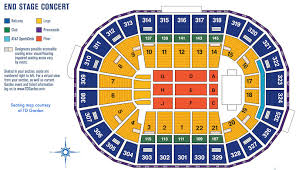 td garden seating map for concerts with an end stage
