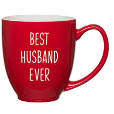 best husband ever customized red bistro mug for husband birthday or anniversary gift ideas for