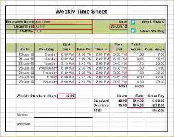 Excel Weekly Timesheet Template With Formulas Kukkoblock Templates