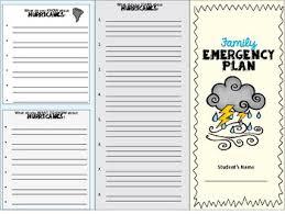 Family Emergency Plan Trifold Disaster Preparedness By My Coastal