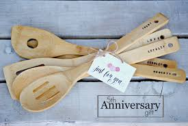 perfect 5th anniversary gift wood and silverware