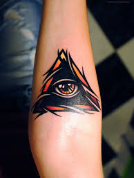 Traditional Tattoo With Eye And Triangle